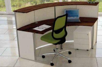 Deco Curved Reception Desk Rear Shot