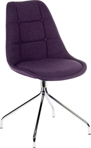 Hatton Designer Chair Plum Fabric 2