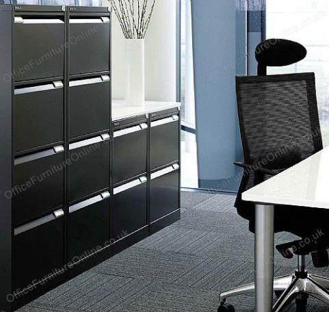 Bisley Classic Filing Cabinets In Black Mood Shot 1