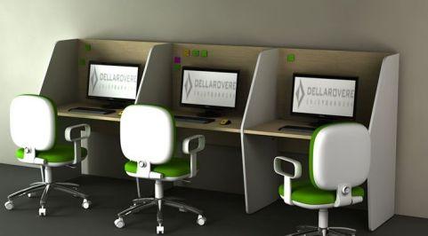 Delta Single Run Of Call Centre Desks 1