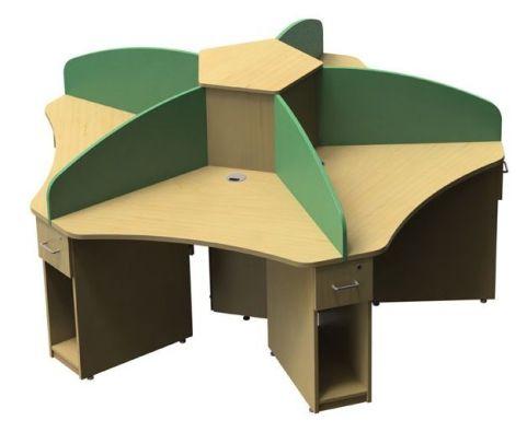 Aspect Five Person Cluster Desk