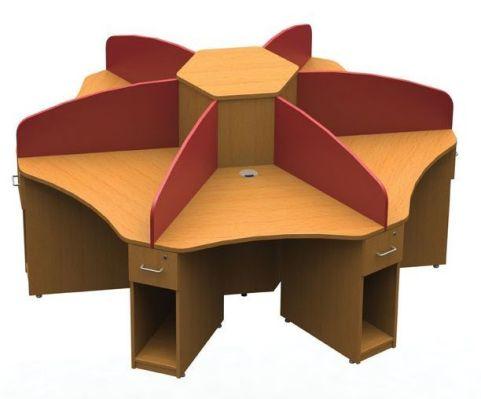 Aspect Six Person Call Centre Cluster Desk