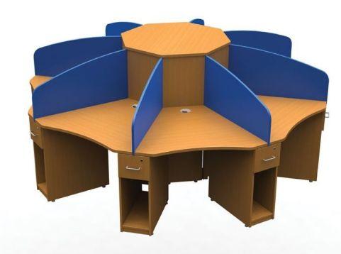 Aspect Eight Person Call Centre Cluster Desk