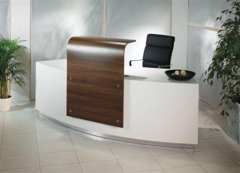 Evo Z Large Curved Reception Desk Mood Shot