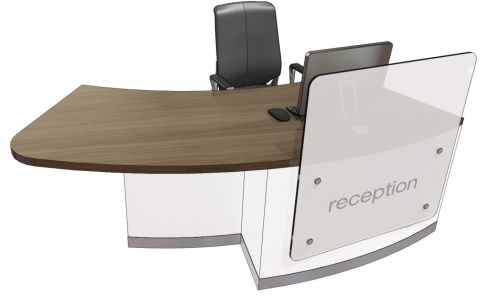Evo Z Right Hand Curved Reception Desk