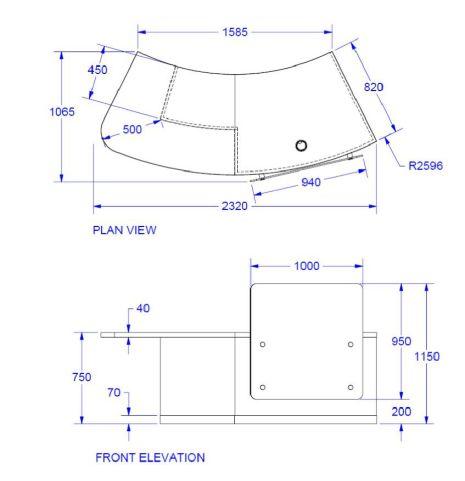 Evo Z Right Hand Reception Desk Dimensions