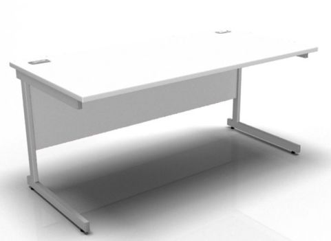 Rectangle Cantilever Frame In White
