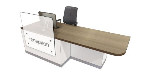 Evo Z Straight Reception Desk With Left Hand Wheel Chair Access Area
