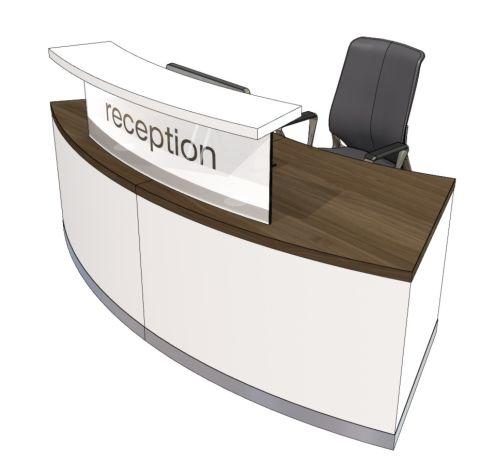 Evo Class Standard Curved Reception Desk