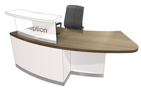 Evop Class Curved Reception Desk With Left Hand Access