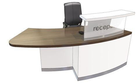 Evo Class Right Hand Curved Reception Desk