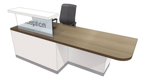 Evo Class Straight Reception Desk With Left Hand Wheelchair Access
