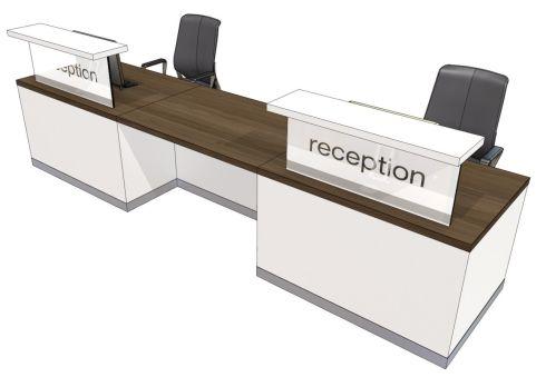 Evo Class Two Person Straight Recption Desk