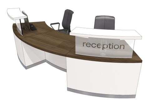 Evo Class Two Person Curved Recption Desk