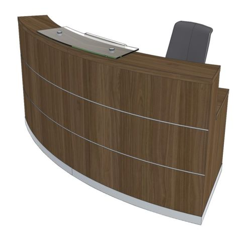 Evo Eclipse Curved Reception Desk