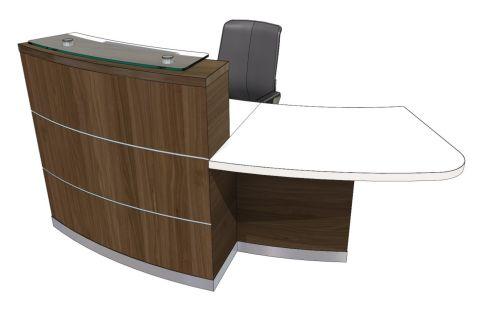 Evo Eclipse Reception Desk With Left Hand Wheelchair Access