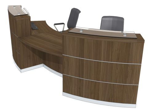 Evo Eclipse Two Person Curved Reception Desk