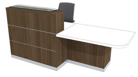 Evo Eclipse Straight Reception Desk With Left Hand Wheelchair Access Area