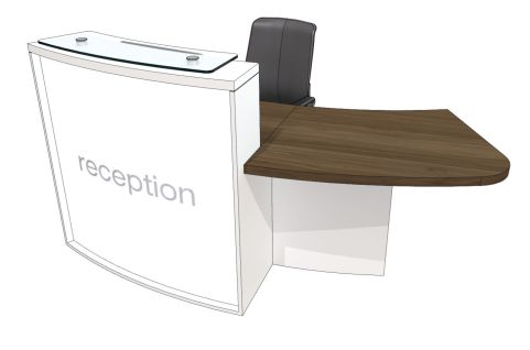 Evo Lite Curved Reception Desk With Left Hand Access