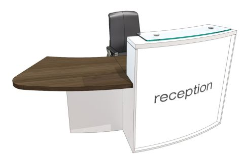Evol Ite Designer Curved Reception Desk With Right Hand Access