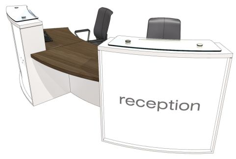 Elite Lite Two Person Curved Reception Desk