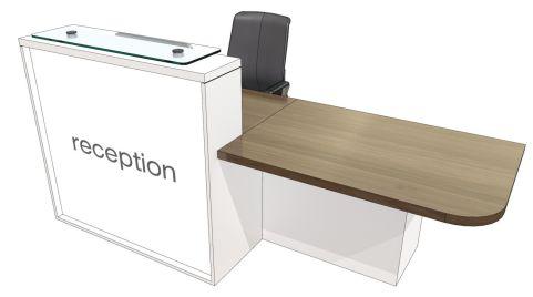 Evo Lite Straight Reception Desk With Left Hand Access