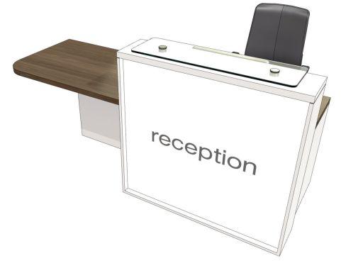 Evo Lite Straight Reception Desk With Right Hand Access