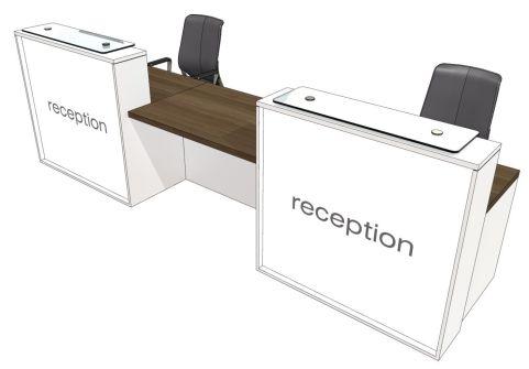 Evo Lite Two Person Straight Reception Desk