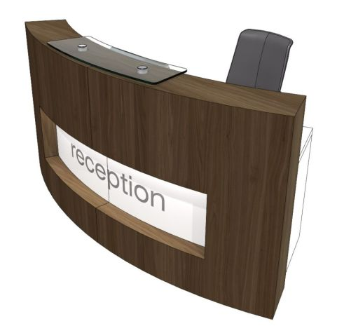 Evo Xpression Curved Reception Desk