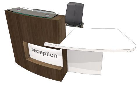 Evo Xpression Curved Reception Desk Left Hand Access