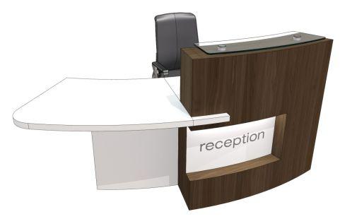 Evo Xpression Curved Reception Desk With Right Hanxd Access