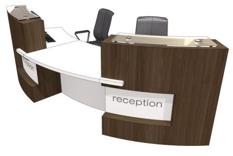 Evo Xpression Two Person Curved Reception Desk