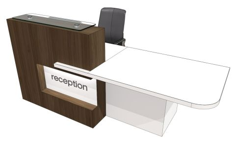 Evo Elive Reception Desk With Left Hand Access