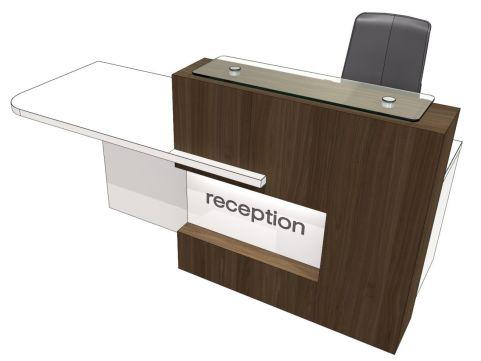 Evo Xpression Straight Reception Desk With Right Hand Access
