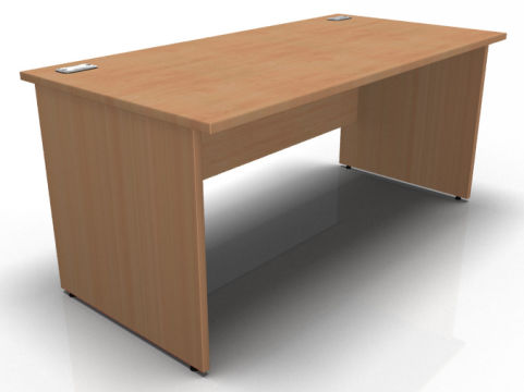 Kessel Rectangular Desks - Panel Sides In Beech