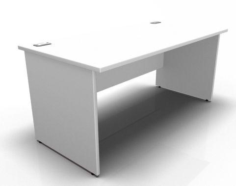 Kessel Rectangular Desks - Panel Sides In White