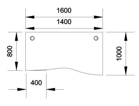 Kessel Wave Desk And Mobile Pedestal Dimensions