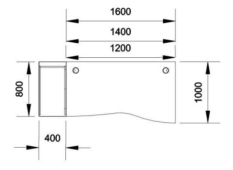 Kessel Right Hand Wave Desk And Desk High Pedestal Dimensions