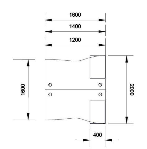 Kessel 2 Way Cluster Wave Desk & Mobile Pedestal Dimensions