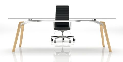 Enzio Glass Executive Desk 2