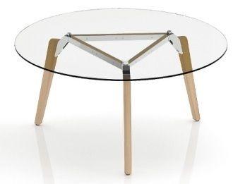 Anzio Circular Glass Meeting Tabe