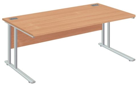 Drycott Plus Cantilver Desk With A Beech Top