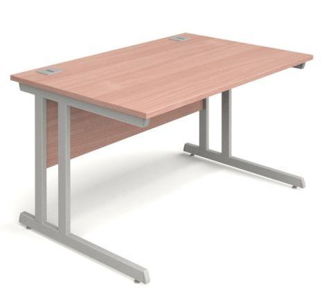 Vespa Rectangular Desk With A Beech Top