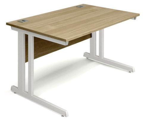 Vespa Rectangular Desk With An Oak Top