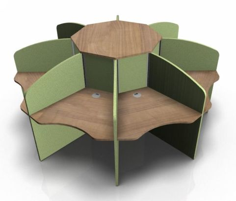 Centrix Eight Person In Oak With Greens Screens