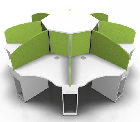Centrix Eight Person Call Centre Cluster Desk