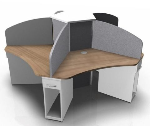 Centrix Five Person Call Centre Cluster With Grey Screens