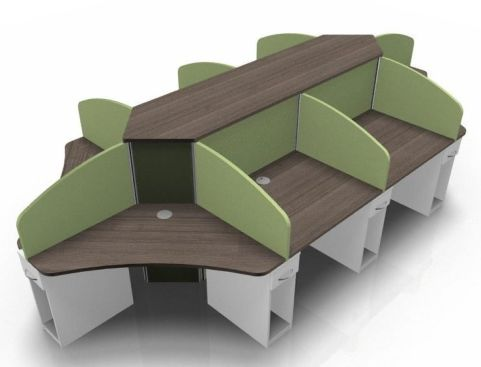Centrix Eight Person Call Centre Desk V3
