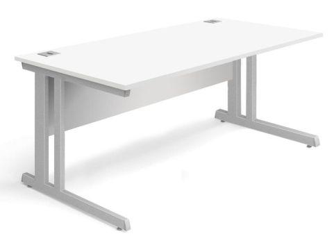 Vespa Rectangular Desk In White