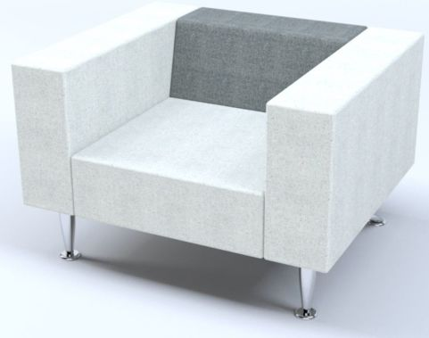 Hugo Single Seater Sofa With Designer Chrome Legs